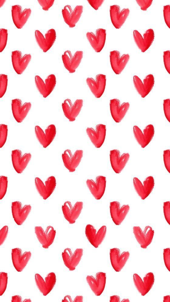 Heart Background Iphone Background Pattern Valentines Wallpaper February Wallpaper