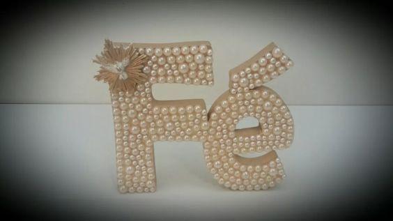 letra decorativa para quarto de bebe mdf e perolas