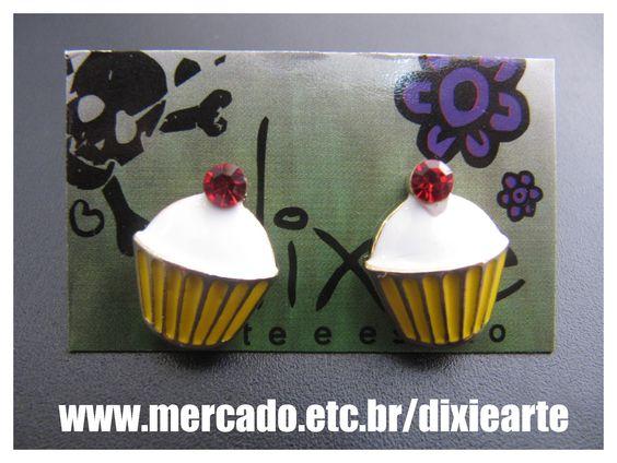 Brincos Cupcake    www.mercado.etc.br/dixiearte