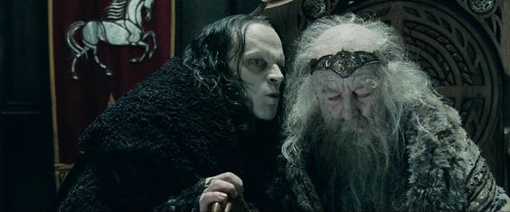 Lord of the Rings Grima Wormtongue | Grima Wormtongue (Brad Dourif) şi Theoden (Bernard Hill)