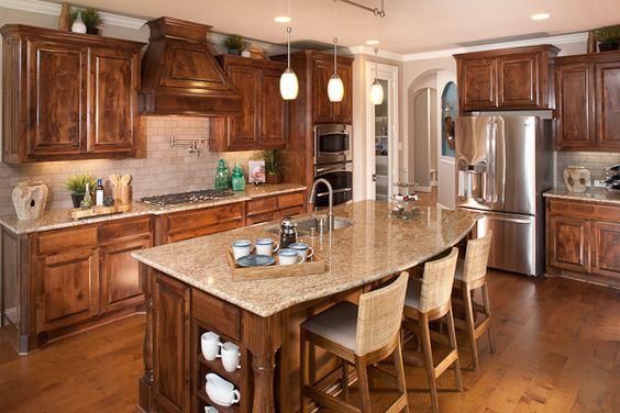 Knotty Alder Cabinets, Alder Cabinets And Light Granite