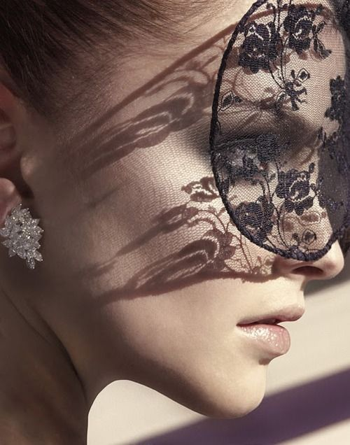 elegant black lace mask