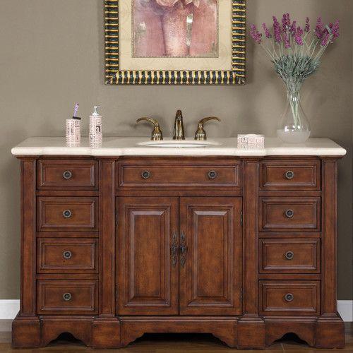 Silkroad Exclusive Sabina 58 Single Bathroom Vanity Set Single Sink Bathroom Vanity Bathroom Vanity Bathroom Top
