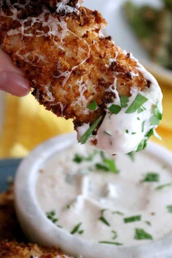 Air Fryer Garlic Parmesan Chicken Tender