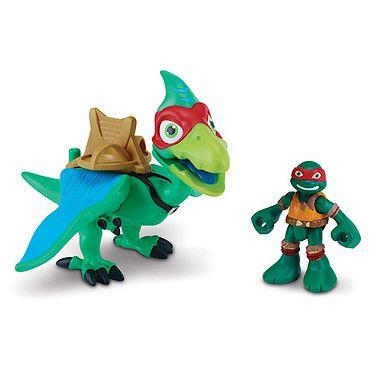 Teenage Mutant Ninja Turtles Half Shell Heroes- Dino Raph & Pterodactyl