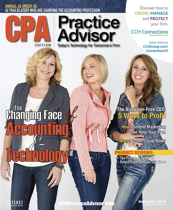 fun cover shoot I did for CPA Practice Advisor with Kim Hogan, Shayna Chapman and Michelle Golden