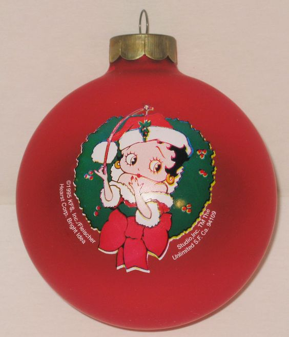 Vintage Betty Boop Glass Ball Ornament