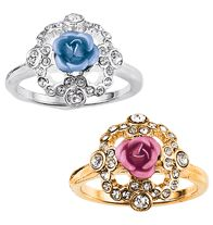 Sparkling Roses Ring - Colored metallic rosettes with rhinestones. Regularly $7.99, buy Avon jewelry online at http://eseagren.avonrepresentative.com