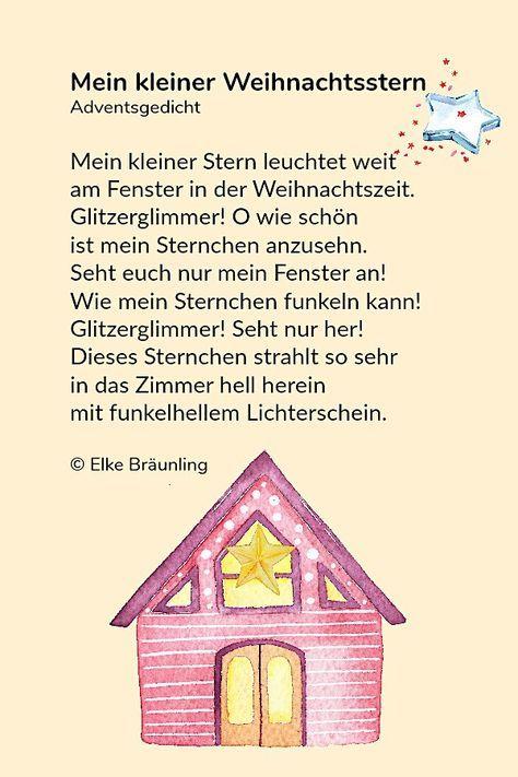 Der Kleine Weihnachtsabendsstern Gedichte Zum Advent Kindergedichte Gedicht Weihnachten