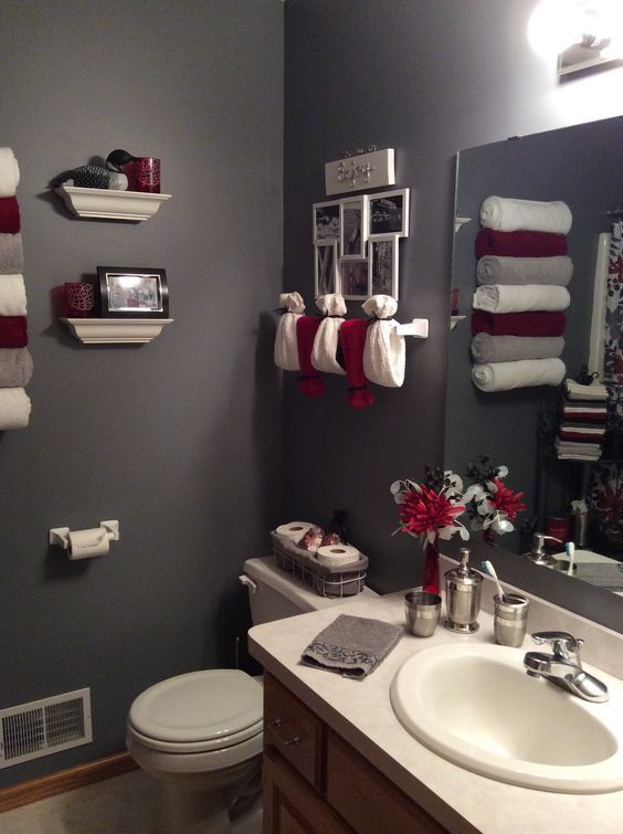 Bathroom Color Ideas Are You Planning To Color Your Bathroom And Are Currently Looking For Bathroom Color Idea Bathroom Red Red Bathroom Decor Restroom Decor