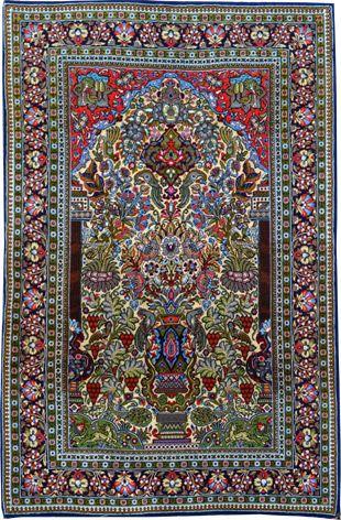 Ghom aus Wolle und Seide 167 x 106 cm