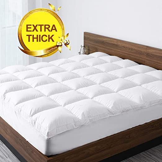 Starcast Sleep Solution Extra Thick Mattress Topper Twin Size Cooling Cotton Plush Down Alternative Fill Mattress Pad Mattress Pad Cover Mattress Pad Mattress