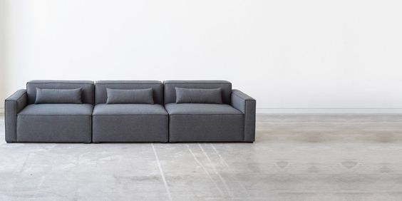 Three Piece Mix Modular Sectional By Gus Modern Mix And Match To Create Your Unique Style Minimalist Design Is Perfect For Cit Modular Sofa 3 Piece Sofa Sofa