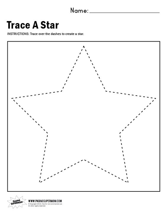 Worksheets Star Worksheets supermom worksheets and wednesday on pinterest trace a star worksheet paging supermom