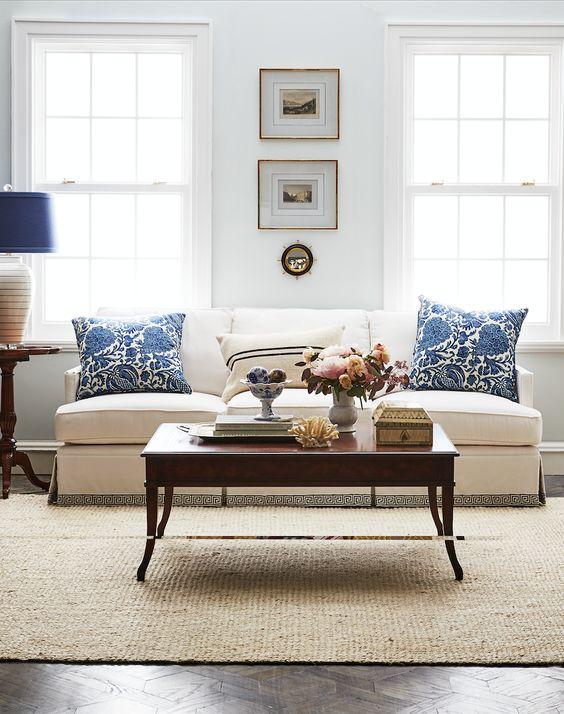 Simple and elegant the perfect classic coastal living - Simple elegant living room design ...