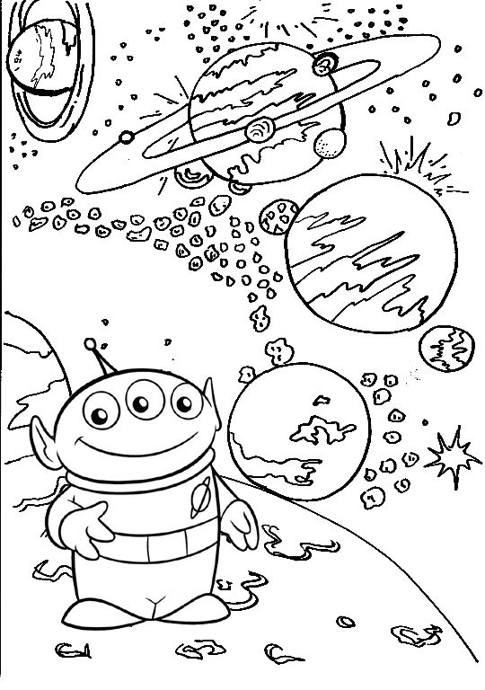 Alien Toy Story Coloring Page Toy Story Coloring Pages Coloring Pages Turtle Coloring Pages