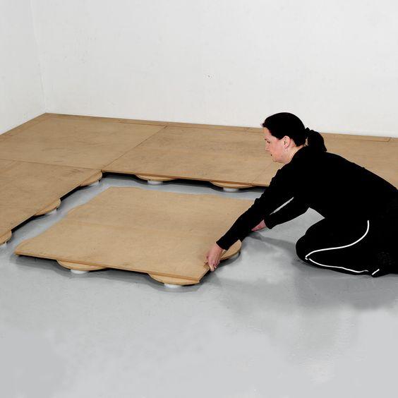 Subfloor Panel 3.5 x 3.5 ft showing install.