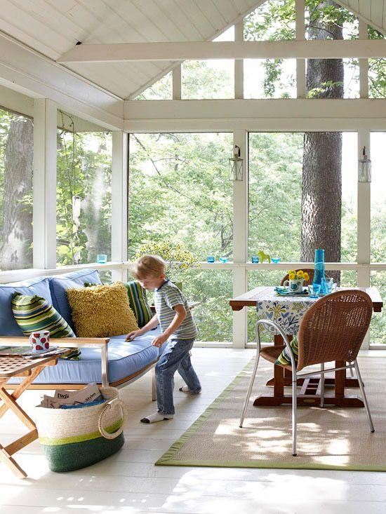 Wintegraten ganz in Weiß gestalten   Sitzmöbel und Verglasung