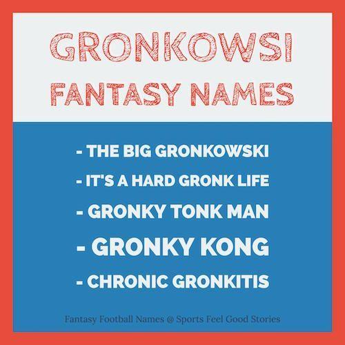 Rob Gronkowski Fantasy Football Names Trivia Patriots Team Fantasy Football Names Fantasy Football Football Names