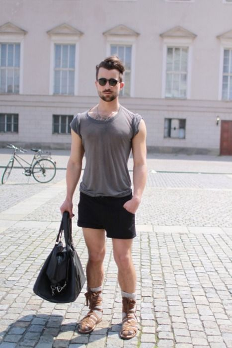 Men style: wearing sandals with socks