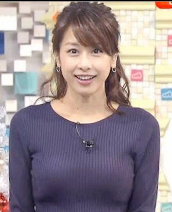 かなり胸が大きい加藤綾子