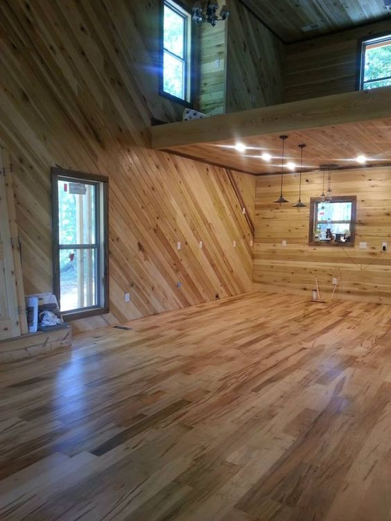 Wormy Maple Flooring And Poplar Walls Our Cabin