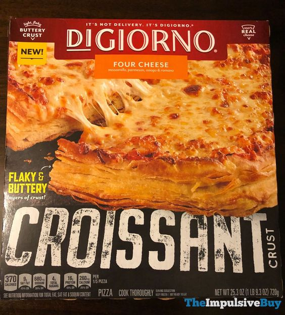 Spotted Digiorno Croissant Crust Pizza The Impulsive Buy Frozen Pizza Pizza Crust Food