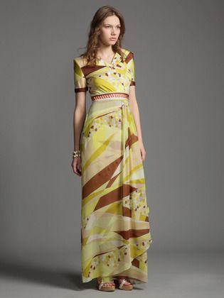 SILK JERSEY RIVIERA PRINT CONTRAST DRESS