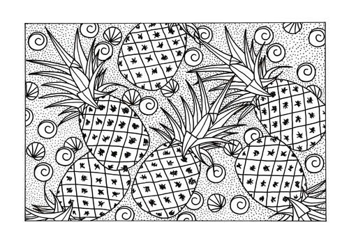 Pineapple Fruits Coloring Pages For Kids Printable Free Fruit Coloring Pages Vegetable Coloring Pages Pineapple Drawing