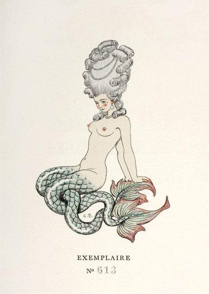 Drawing by Georges Barbier for volume 2 of Choderlos de Laclos, Les liaisons dangereuses (Paris : Le Vasseur, 1934)