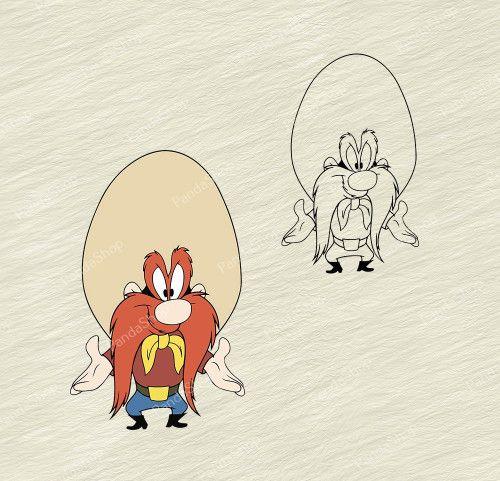 Yosemite Sam Looney Tunes 2 Svg Dxf Eps Png Cricut Vector Yosemite Sam Make Birthday Invitations Poster Prints