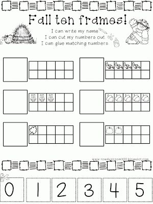 10 frames activities: FREE fall-themed 10 frames worksheet. | 10 ...