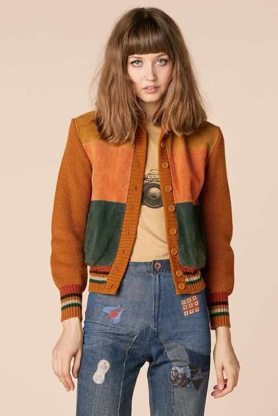 Playin' Hooky 70's Suede Sweater:
