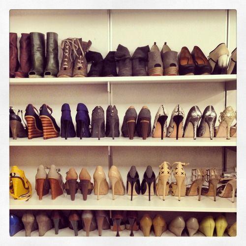 girlmeetcity: shoe moment. Lela Rose's closet
