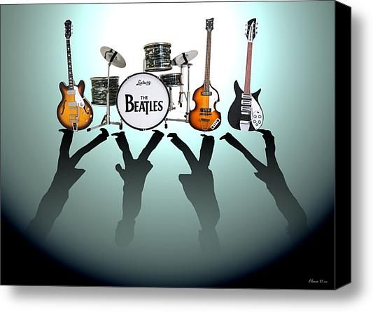 The Beatles Stretched Canvas Print / Canvas Art By Lena Day