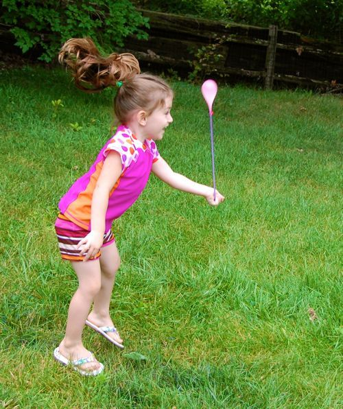 I made some water balloon yo-yos for the kids, an idea I spotted here — what a fun and active way to beat the ...