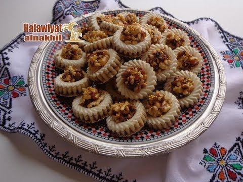 حلويات اللوز المغربية حلوى بحشوة لذيذة ومعلكة أو الأهم جد صحية عمركم مغا Cooking Desserts Food