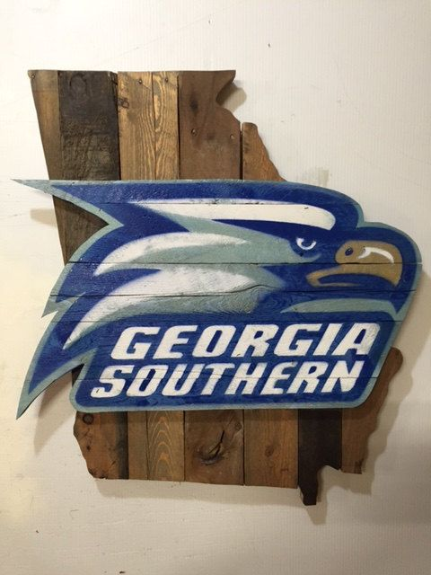 Georgia Southern Eagles Football Sign by MacDonaldsCreations