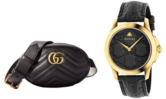Gucci G-Timeless Watch & Gucci Marmont Belt Bag