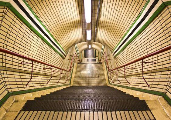 Tottenham Court Road Tube Station.  London, England
