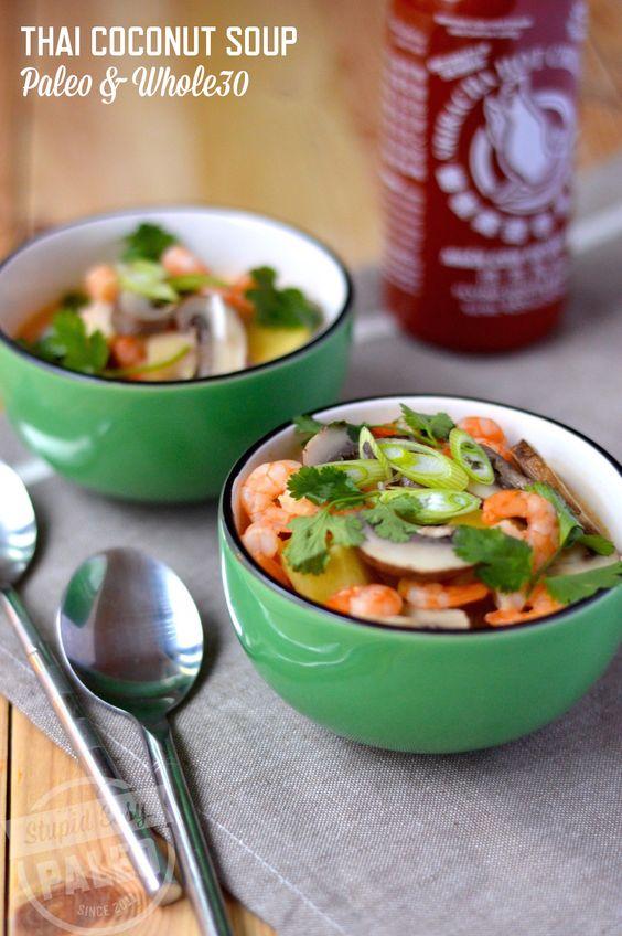 Thai coconut soup, Coconut and Soups on Pinterest