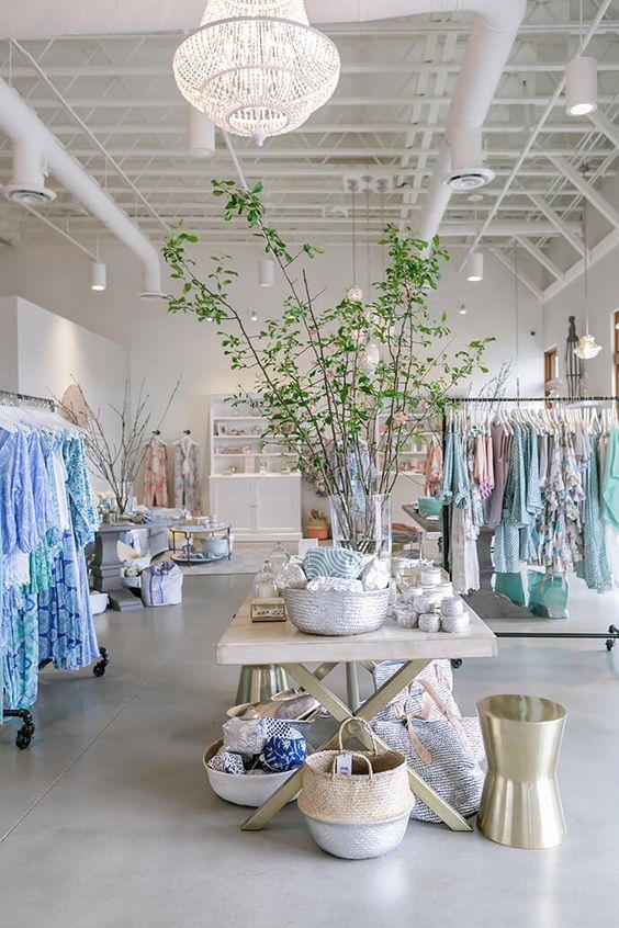 Feminine retail space design