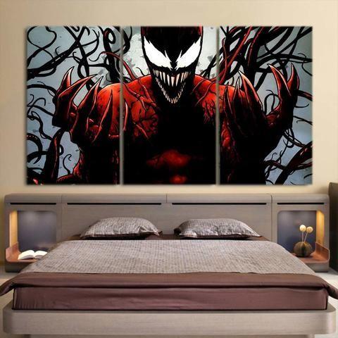 Spider Man Enemy Carnage Design 3pcs Wall Art Canvas Print Wall Art Canvas Prints Superhero Wall Art Canvas Prints