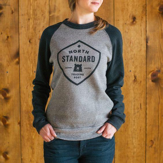 North Standard Unisex Two Tone Crew Sweatshirt