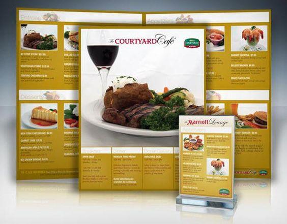 Ideas diseño cartas menus restaurantes ejemplos