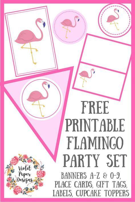 Free Printable Flamingo Party Set Flamingo Feestje Flamingo Verjaardag Kinderfeestje