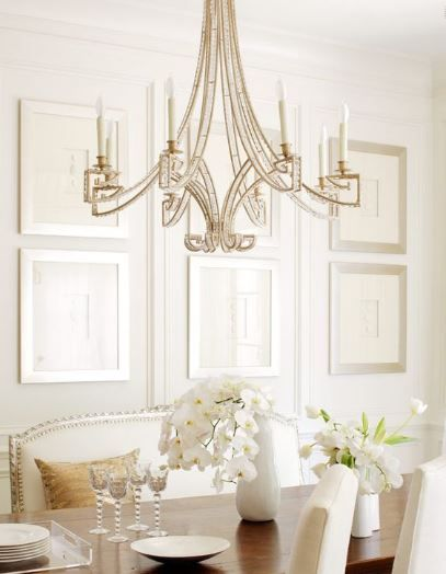 White Dining Room Gold Chandelier, White Chandeliers For Dining Rooms