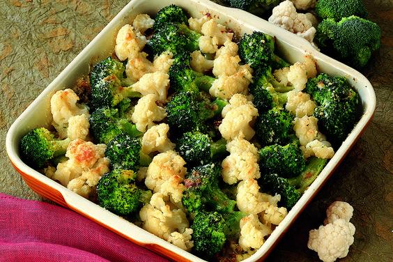 Teglia di cavolfiore e broccoli