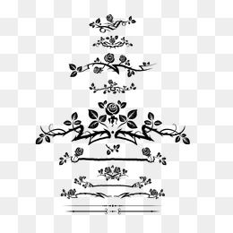 Rose Border Frame Rose Border Black White Flowers Flower Png Images Flower Border Png Free Watercolor Flowers