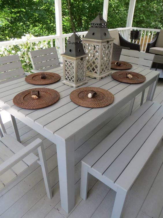 falster ikea i love the looks of this outdoor dining set table 175 bench 75 chair 39. Black Bedroom Furniture Sets. Home Design Ideas